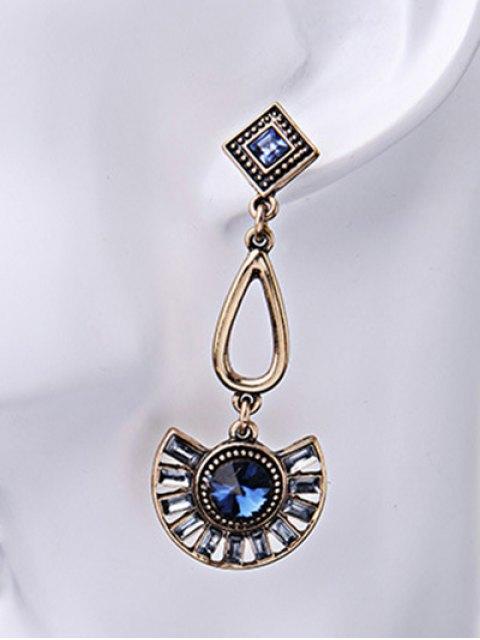 Boucles d'oreilles Faux Sapphire Fan-Shaped - Bleu  Mobile