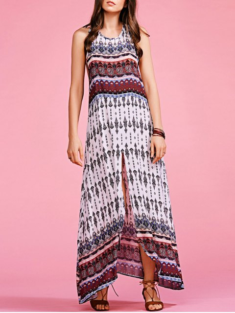 shop Bohemian Printed Sleeveless Maxi Dress - COLORMIX S Mobile