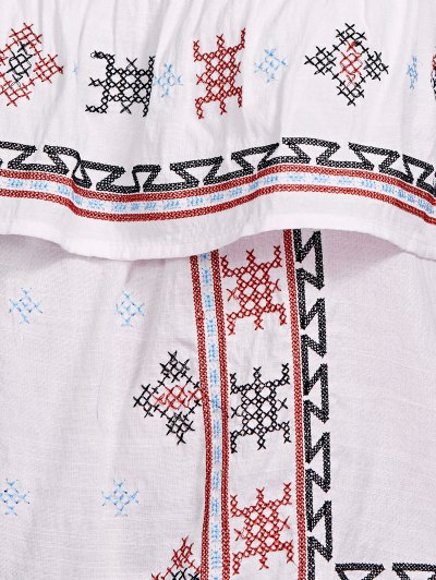 Ethnic Style Embroidery Off The Shoulder Blouse от Zaful.com INT