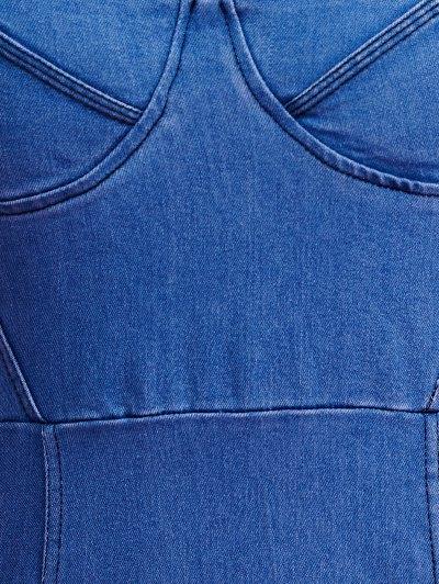 Blue Denim Cami Bodycon Dress - LIGHT BLUE M Mobile