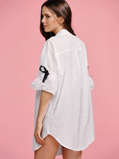 Ruffle Sleeve Trench Coat от Zaful.com INT