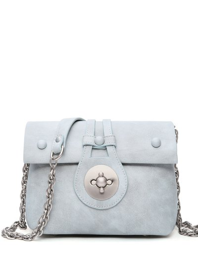 Hasp Chains Solid Color Crossbody Bag Image