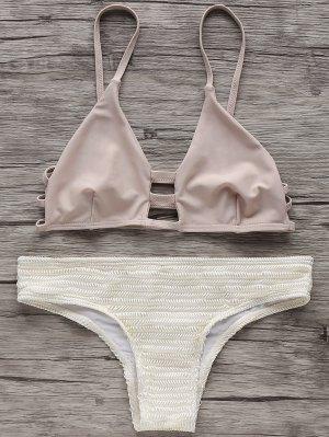 Elástica De Correas Espaguetis Set Bikini - Blancuzco