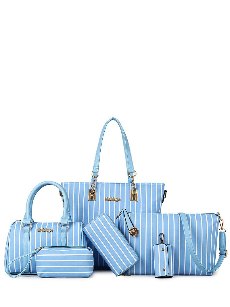 Striped Design Shoulder Bag For Women