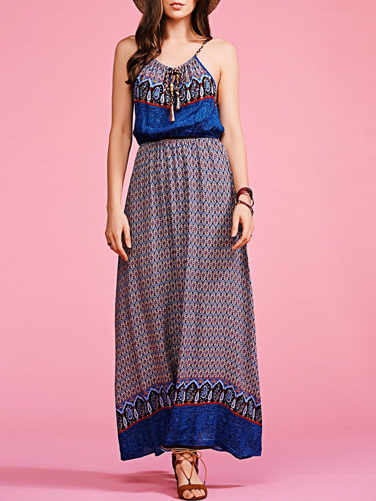 Print Cami High Waisted Maxi Dress