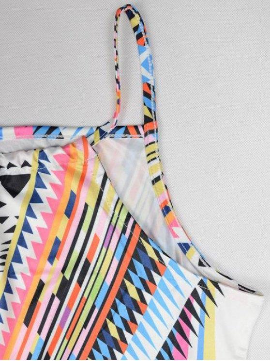 Geometric Print Camisole Dress - COLORMIX M Mobile