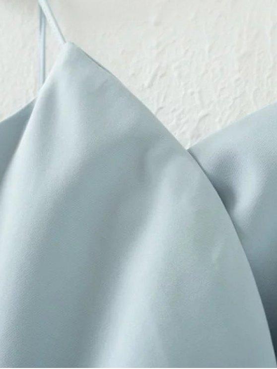 Solid Color Wrap Cami Top - BLACK S Mobile