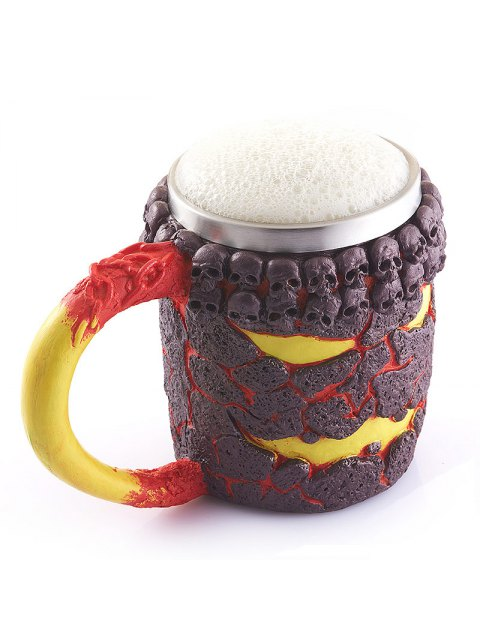 affordable 15OZ Creative Halloween Magma Monster Pattern Beer Cup For Bar Festive Decoration - TAN  Mobile