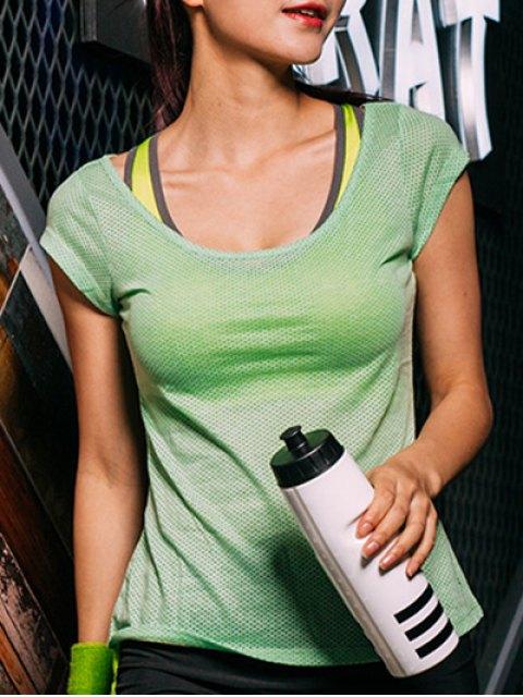 ladies Dot Pattern Sport T-Shirt - GREEN S Mobile