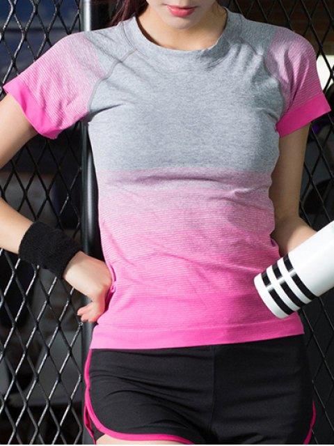 sale Gradient Color Stretchy T-Shirt -   Mobile