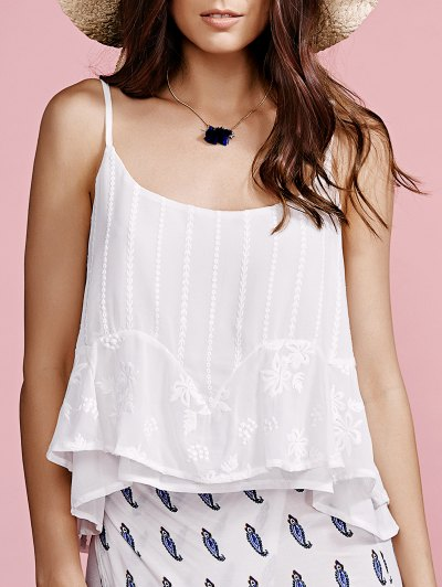 Solid Color Cami Top - White