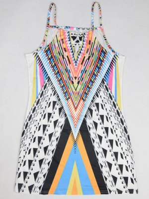 Geometric Print Camisole Dress