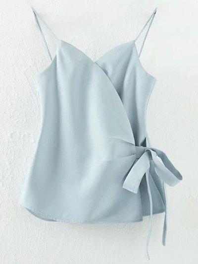 Solid Color Wrap Cami Top