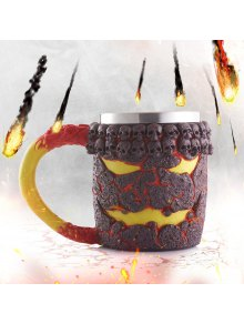 15OZ Creative Halloween Magma Monster Pattern Beer Cup For Bar Festive Decoration - Tan
