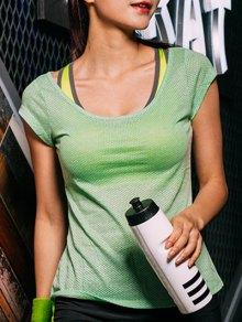 Dot Pattern Sport T-Shirt - Green