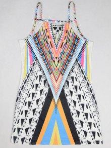 Geometric Print Camisole Dress