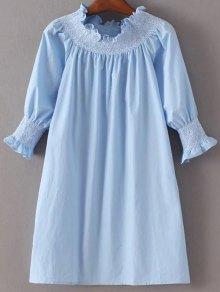 Off Shoulder Poplin Dress
