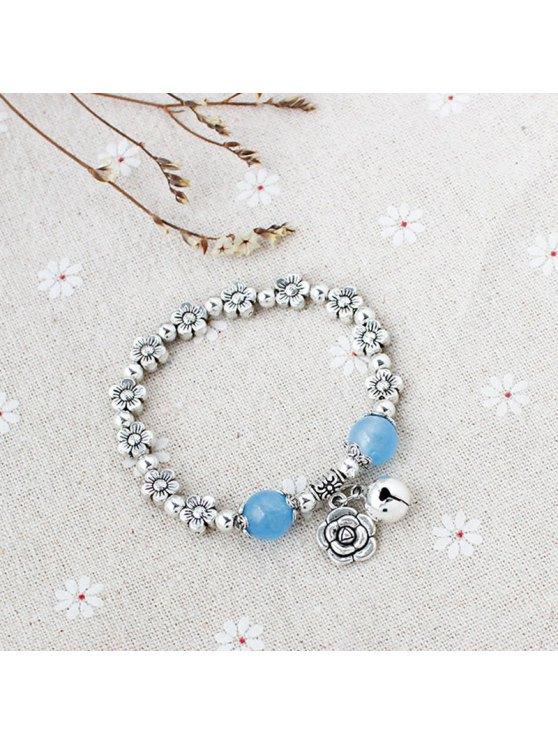 Rose Bead Bell Flower Bracelet -   Mobile