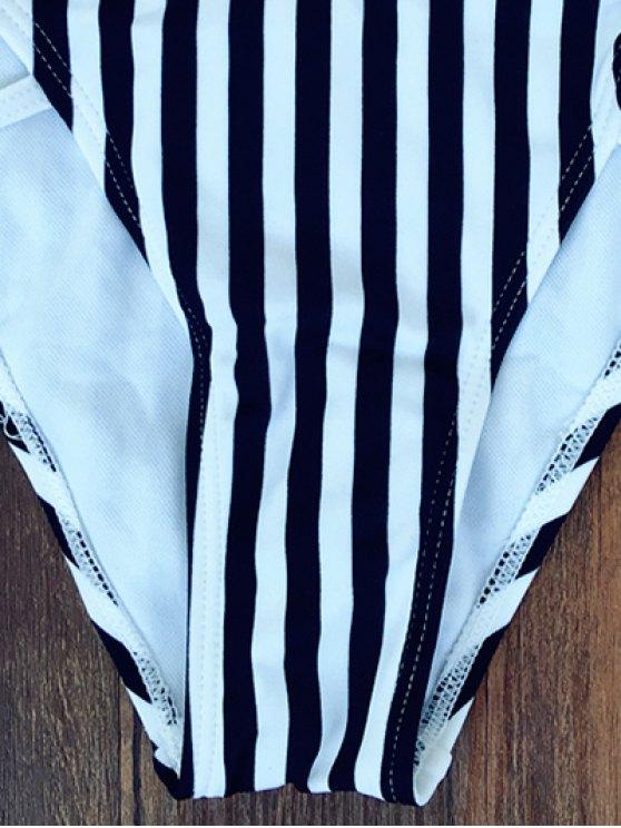 Striped Halter Bikini - STRIPE M Mobile