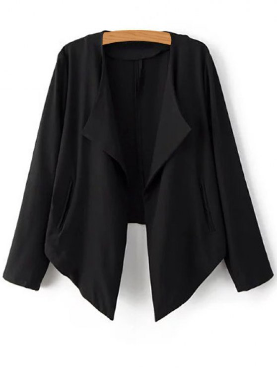 Cropped Back Blazer - BLACK S Mobile