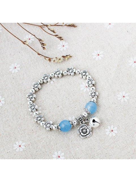 online Rose Bead Bell Flower Bracelet -   Mobile