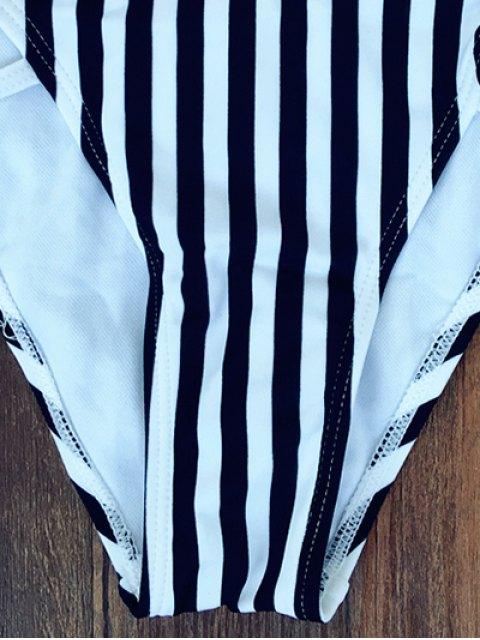 women Striped Halter Bikini - STRIPE S Mobile