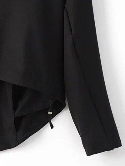 Cropped Back Blazer - BLACK L Mobile
