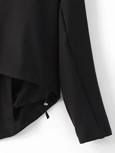 Cropped Back Blazer - BLACK S Mobile