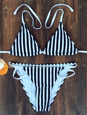 Striped Halter Bikini - Stripe