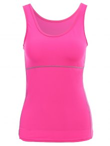 Exposed Seams Sports Tank Top