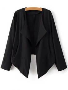 Cropped Back Blazer - Black