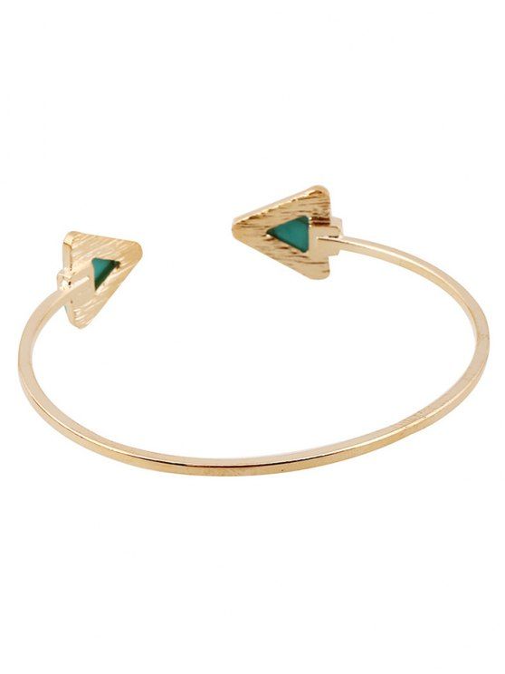 Faux Turquoise Triangle Cuff Bracelet - WHITE  Mobile