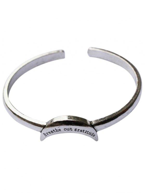 Crescent Shape Cuff Bracelet - SILVER  Mobile
