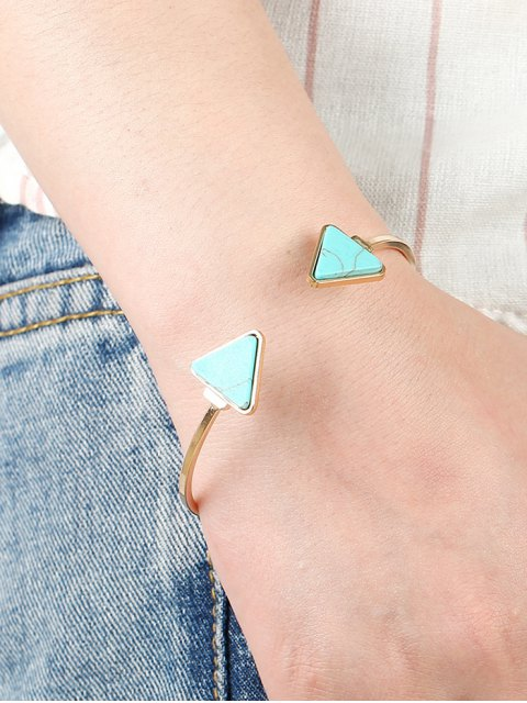 chic Faux Turquoise Triangle Cuff Bracelet - GREEN  Mobile
