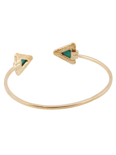 fancy Faux Turquoise Triangle Cuff Bracelet - WHITE  Mobile