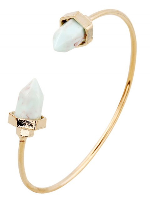 buy Faux Turquoise Arrowhead Cuff Bracelet - GOLDEN  Mobile