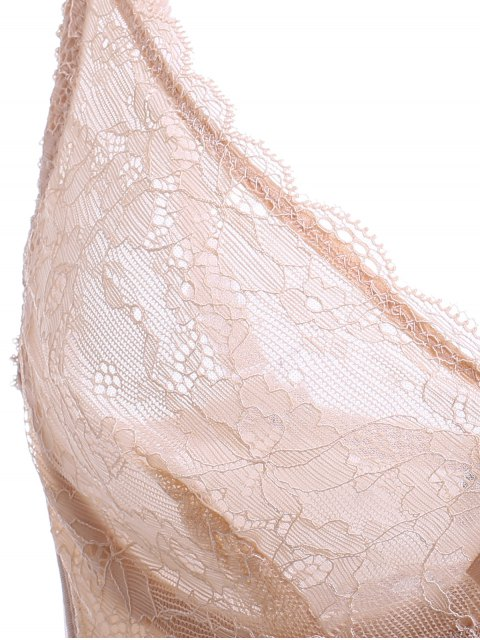 womens Push Up Spaghetti Strap Unlined Lace Bra - COMPLEXION 80B Mobile