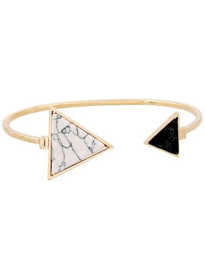 Stone Triangle Cuff Bracelet - GOLDEN  Mobile