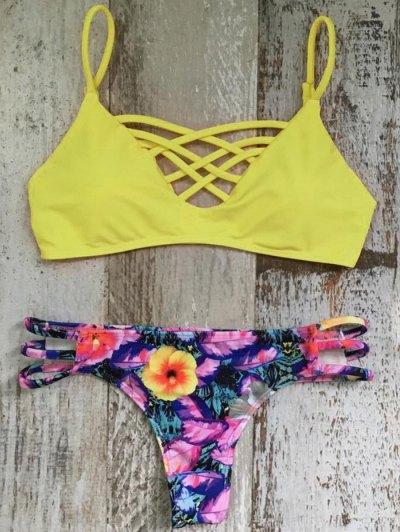 Criss Cross Cami Floral Bikini Set