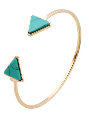 Bracelet en faux turquoise