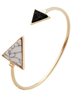 Stone Triangle Cuff Bracelet - Golden