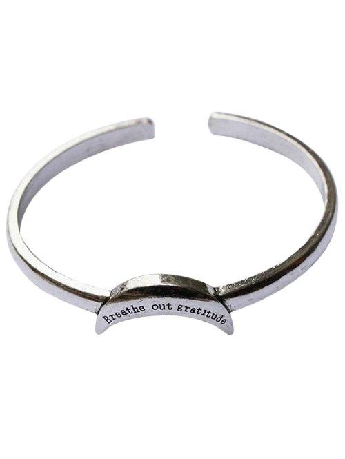 Crescent Shape Cuff Bracelet