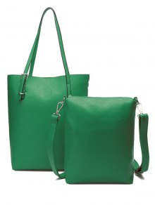 Buy Buckle Solid Color PU Leather Shoulder Bag
