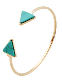 Faux Turquoise Triangle Cuff Bracelet