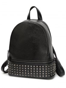 Rivet PU Leather Solid Color Backpack