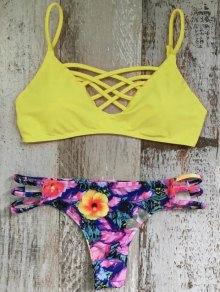 Criss Cross Cami Floral Bikini Set - M