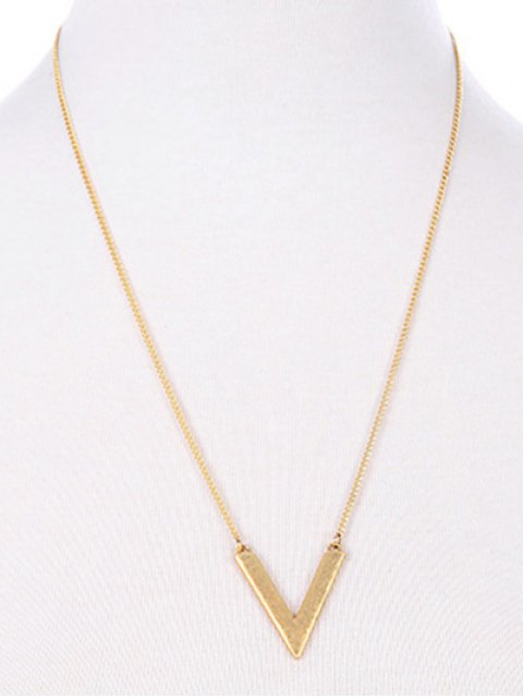 outfits Triangle Stone Layered Necklace - GOLDEN  Mobile