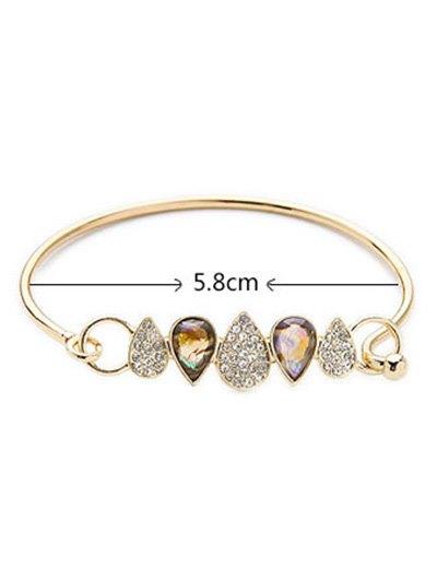 Water Drop Rhinestone Bracelet - GOLDEN  Mobile