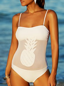 Bandeau One-Piece Pineapple Bathing Suit