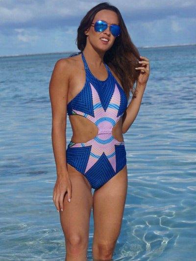 Fashion Printed Halter One-Piece Swimwear от Zaful.com INT